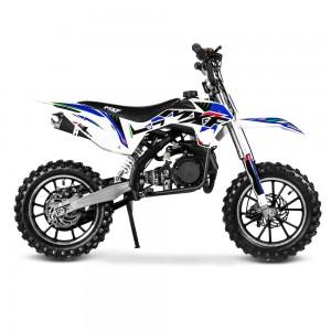 Mini Moto Cross Ferinha  MXF 49cc Azul Partida Elétrica