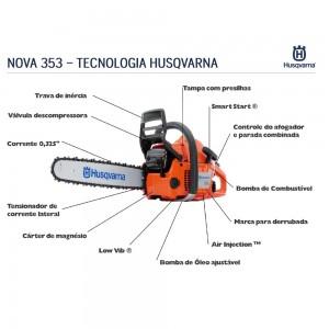 Motosserra à gasolina Husqvarna 353